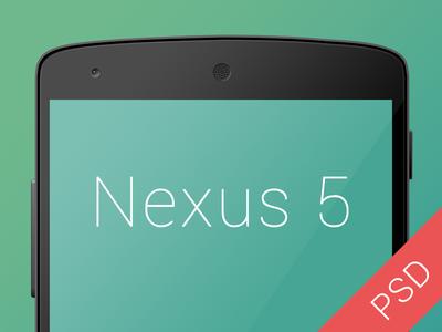Free Nexus 5 PSD android google nexus download freebie free nexus 5 phone psd template