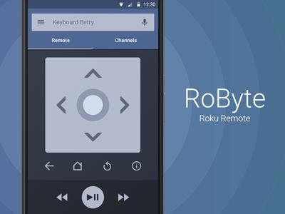 Robyte Roku Remote roku android lollipop remote nexus material design 5.0 app google