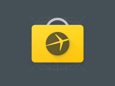 Expedia for Android logo app lollipop grid launcher icon expedia design material android