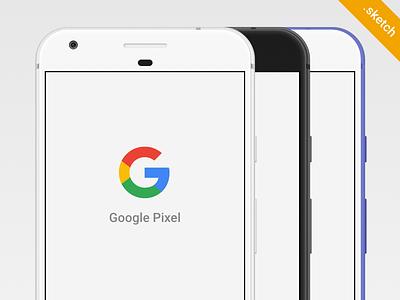 Free Google Pixel Sketch Mockup nexus mockup .sketch template sketch phone google pixel free freebie pixel google android