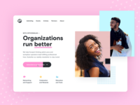 Office Ninjas - Design Concept fun design interface ux ui website bright clean