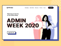 AdminWeek - Landing Page ux ui clean colorfull bright design landing