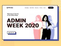 AdminWeek - Landing Page ux ui clean colorfull bright design landing