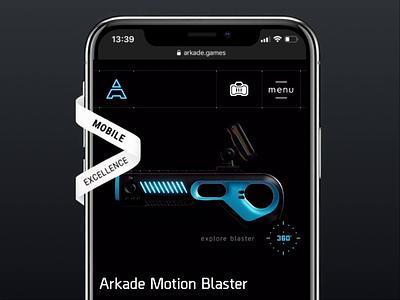 Engaging e-commerce experience for Arkade.games shop 3d e-commerce website design design landing mobile ux bachoodesign website ui webgl animation interface