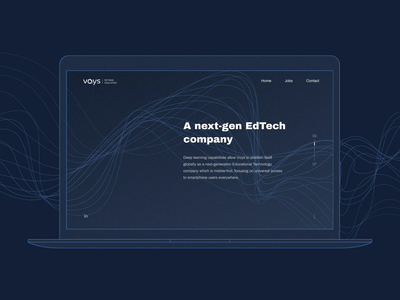 Voys.ai — your ai-powered English teacher landing page motion animation landing abstract artificial intelligence