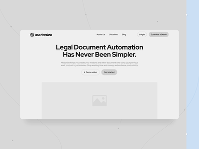 A website for lawyers' work automation instrument: Motionize website bachoodesign