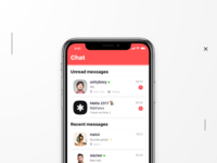Messenger Concept on iPhone X