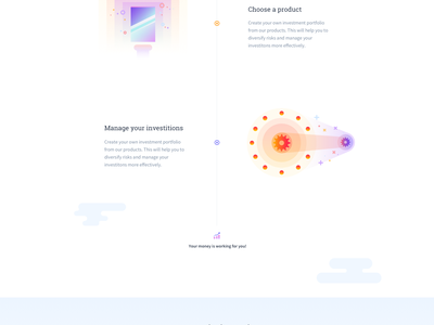 Capitalium — Homepage Design landing page homepage illustration vibrant clean interface blockchain cryptocurrency