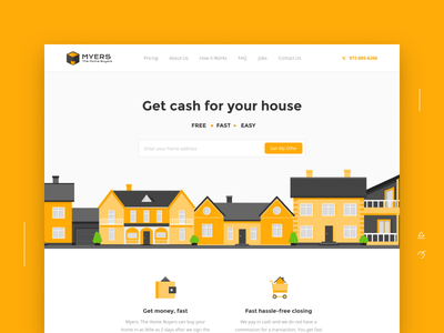 Myers the Home Buyers icons bachoodesign clean icon animation illustration