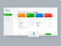 Cotizadores información interface web ux ui dashboard
