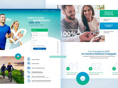 Coomeva people green blue health salud
