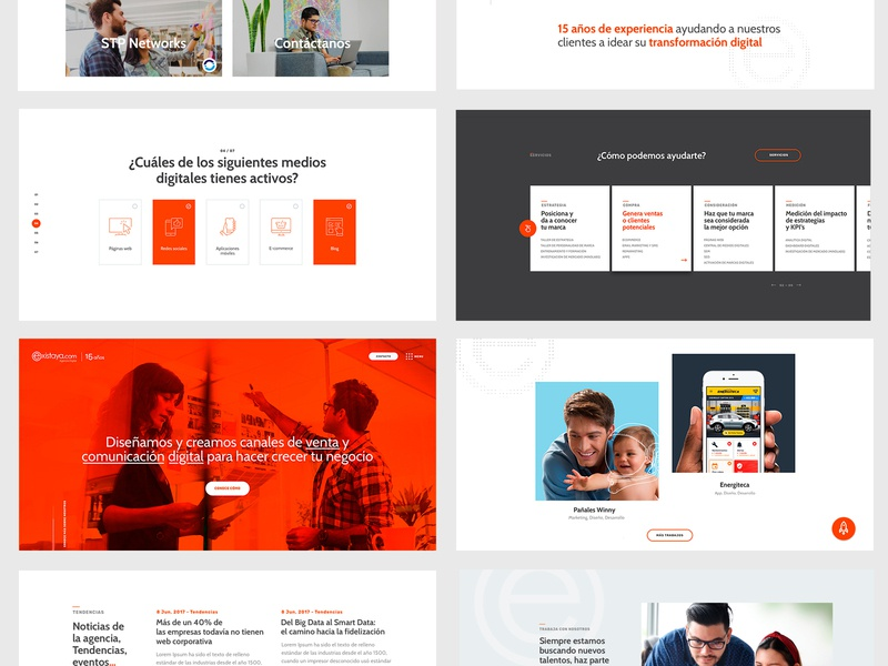 Existaya cali interface web orange ui agency website