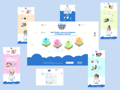 Winny family microsite design interface web ui baby