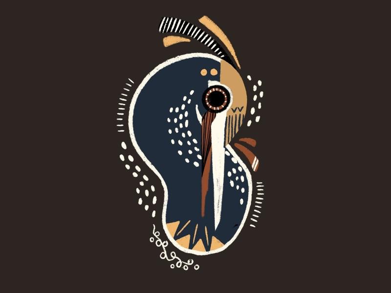 Great Blue Heron color palette color pattern lines dots bird illustration illustration art design illustration bird