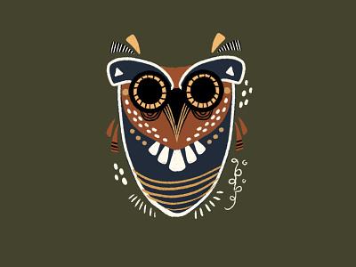 Great Horned Owl birds seattle digital illustration digital illustration art dots line pattern procreate sketch doodle owl illustration owl illustrator bird illustration bird