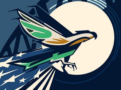 Seahawks vs Patriots Digital Ticket seahawks sports football nfl color social media flat branding seattle procreate illustration design