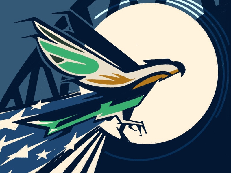 Seahawks vs Patriots Digital Ticket seahawks sports football nfl color social media flat branding seattle procreate illustration design