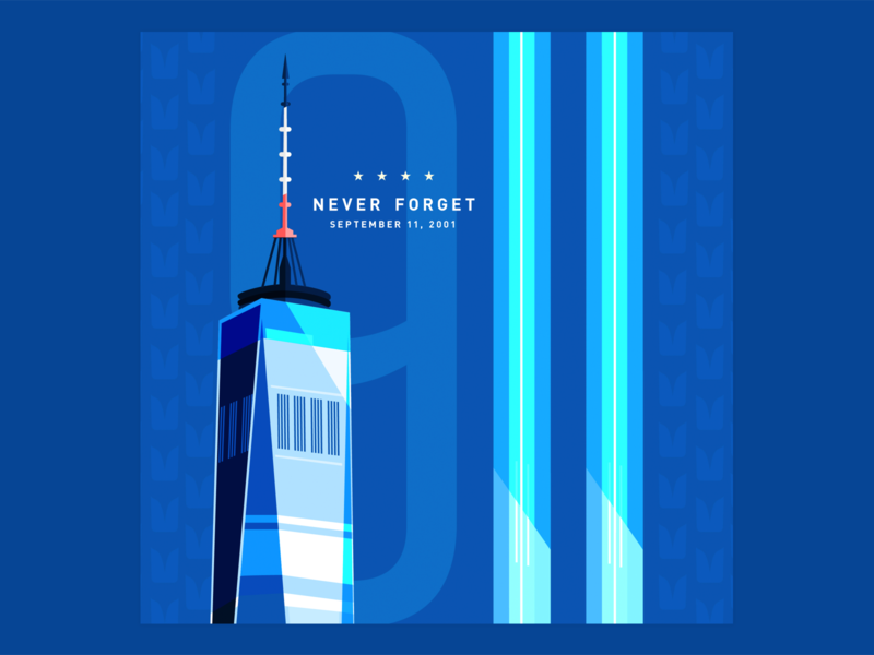 Seattle Seahawks - Remembering 9/11 seahawks nyc seattle firstshot vector social media sports branding branding illustration flat design