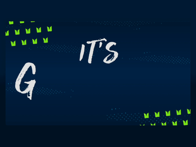 Seattle Seahawks - It's Gameday! Social Post nfl seahawks seattle illustrator type web typography branding vector illustration flat sports branding animation 2d social media animation