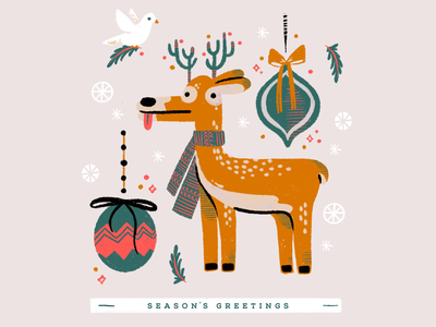 Season's Greetings funny character greeting card design illustrator procreateapp character design holiday card holidays christmas greetingcard design characterdesign character designchallenge procreate illustraion