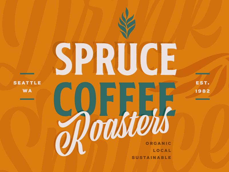 Spruce Coffee Roasters Logo social media concept seattle logomark vector branding spruce roasters coffee design challenge logo typography logotype logodesign logo