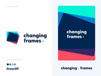 Changing Frames video web design mark colorpalette color font logotype logo logodesign graphic design