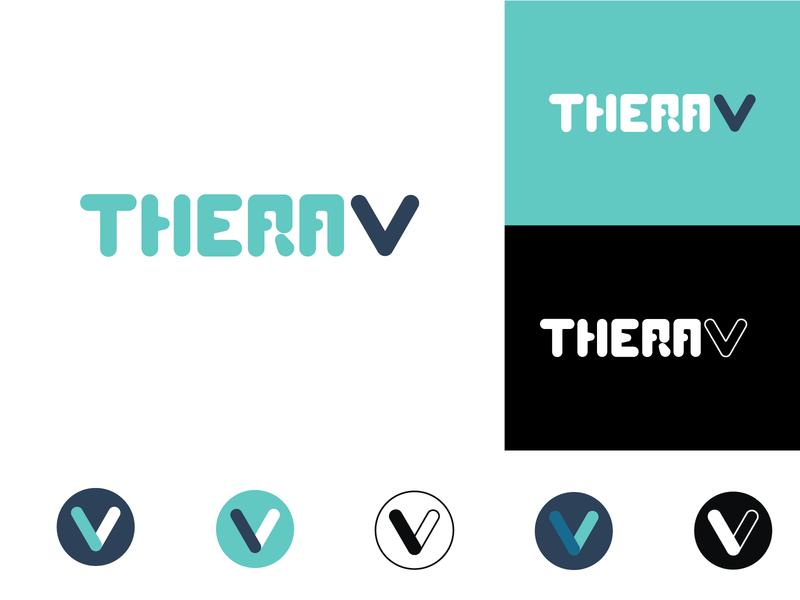TheraV brand identity update medical tech logo brand identity brand