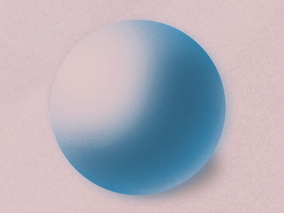 Ball illustration halftone blue pink procreate ball