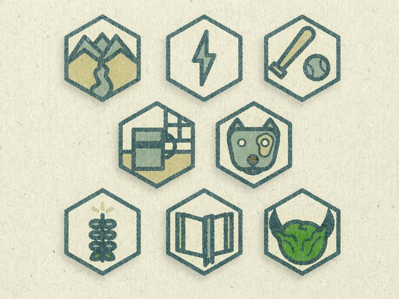 Icon Mockup hexagon icon outdoors baseball lettuce