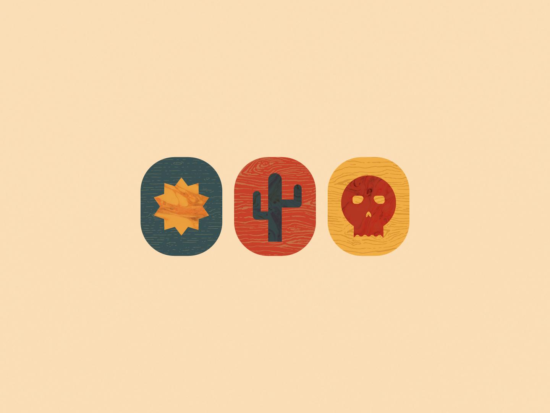 Sun Cactus Skull