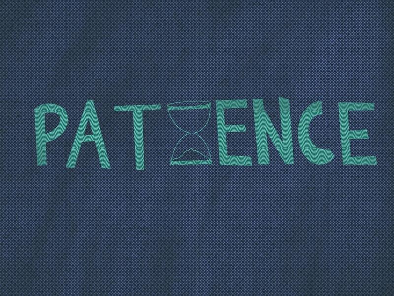 Patience lettering procreate texture