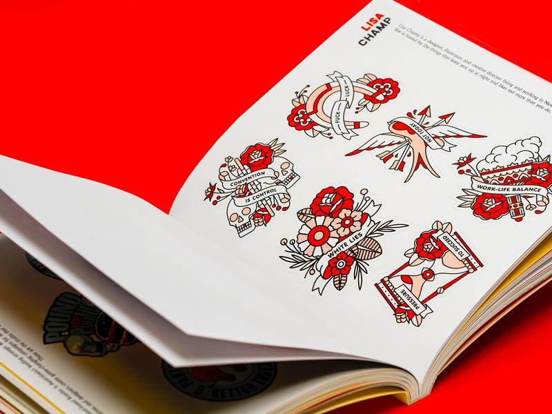 champ.nyc x Truth Bombs truth propaganda flower book tattoo monoline pop art print illustration halftone
