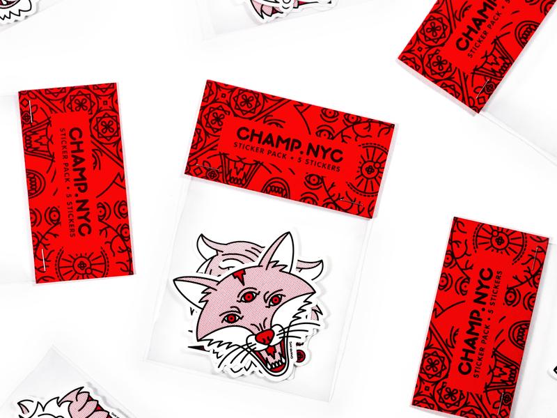 Sticker Giveaway animals sticker pack beast pop art giveaway sticker tattoo monoline illustration halftone