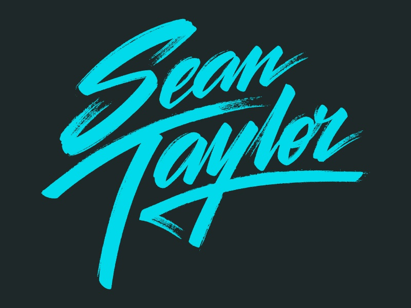 Hey DJ! script lettering logotype texture