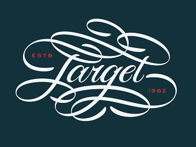 Target Script type lettering script apparel shirt target sexy hand lettering brush script