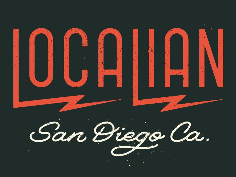 Localian t shirt hand lettering type lettering script