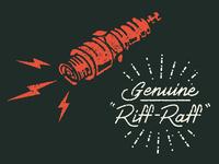 Riff Raff hand lettering spark plug illustration lettering type script