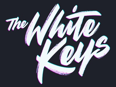 The White Keys brush script texture band music lettering script type
