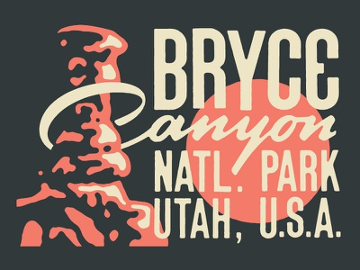 Bryce Canyon for Type Hike national parks type hike type script lettering