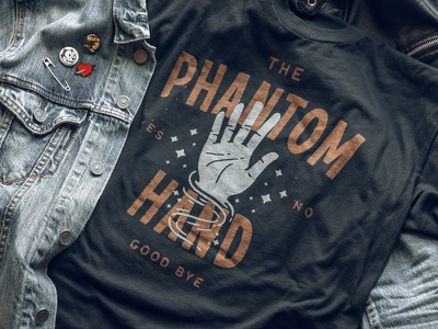 The Phantom Tee logotype type t-shirt lettering