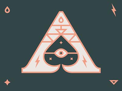 Ace of Spades death card mystical spade ace icon identity logo