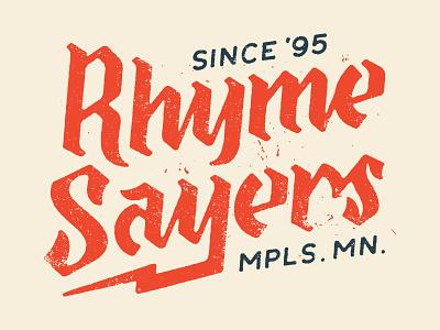 Rhymesayers blackletter music logotype logo lettering type