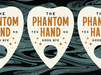 The Phantom Hand has a posse hand lettering free hand phantom mystical sticker lettering