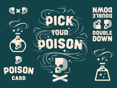 Pick Your Poison logotype logo lettering game