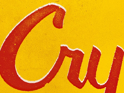 Cry Baby Detail Shot script lettering typography switchblade 50s greaser