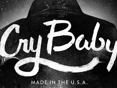 Cry Baby script lettering typography switchblade 50s greaser grit
