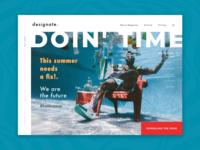 Lifestyle Magazine Concept 🔺 daily 100 challenge dailyui minimal website design web design website web
