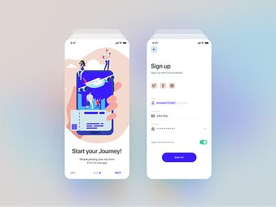 UI KIT Travel App uikit concept illustration mobile app ui ui ux app dribbble shot