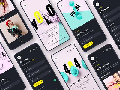 YOLO UI KIT (40 screens) ux ui design ecommerce mobile app concept shot ui ux app dribbble