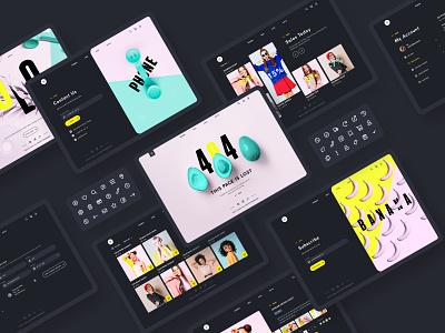 UI KIT YOLO ui8 ui design ui kit ui shop ecommerce concept mobile app ui ux app shot